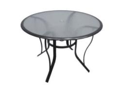 Aqua Glass a;uminum patio dining Table
