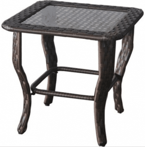 BH & G Colebrook resin wicker side table
