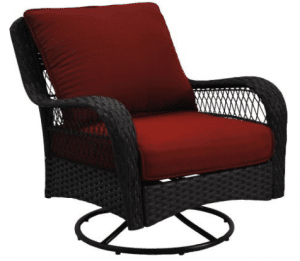 BH & G Colebrook resin wicker swivel chair red