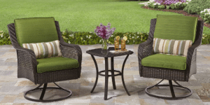 Better Homes and Gardens Amelia Cove resin wicker Small Bistro Sets for Outdoor