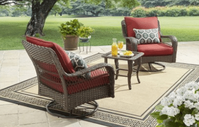 Better homes and Gardens Colebrook red chat set
