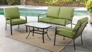 Mainstays Stanton conversation set in green