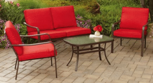 Mainstays Stanton conversation set in red