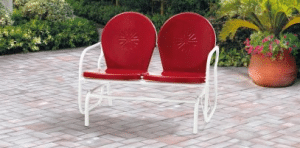 Mainstays red retro metal glider