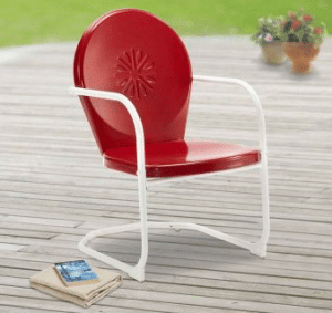 Mainstays red retro motion chair