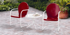 Mainstays retro metal patio bistro set