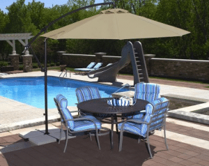 10 Foot Island Cantilever Patio Umbrella Tan