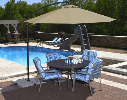 Island Santiago 10-ft Octagonal cantilever patio umbrella