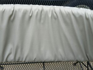 Solid side of replacement cushion