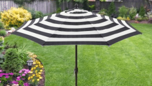 Better Homes and Gardens Cabana stipped umbrella