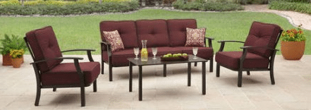 Better Homes and Gardens Carter Hills conversation set red