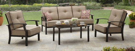 Better Homes and Gardens Carter Hills conversation set tan