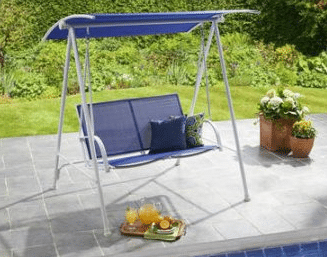 Mainstays 2 Seat Sling Swing Blue