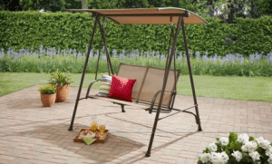Mainstays 2 person swing with canopy tan