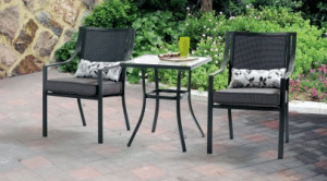 Mainstays Alexandra Square Small Bistro Sets for Outdoor