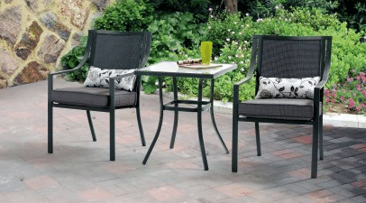 Mainstays Alexandra Square bistro set in gray