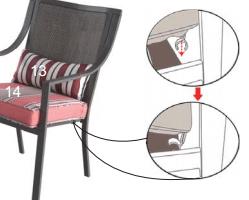 Mainstays Alexandra Square seat cushion snaps