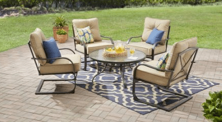 Mianstays Forest Hills Metal Patio Furniture Sets With Cushions