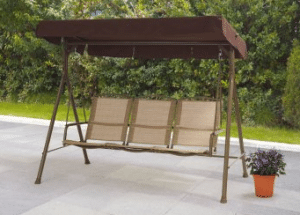Mainstays Sand Dune 3 person outdoor swing