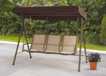 Mainstays Sand Dune 3 person patio swing with canopy