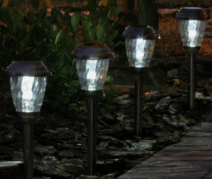 Set of solar path lights