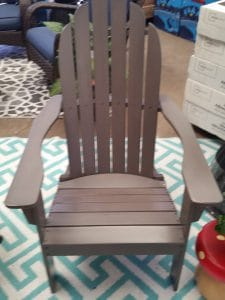 Mainstays wood Adirondack chair grey
