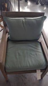 Cane Bay Chair with cushions