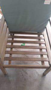 Cane Bay chair seat slats