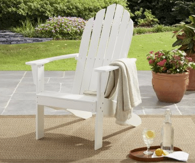 Mainstays Wood Adirondack Chairs for that beach look