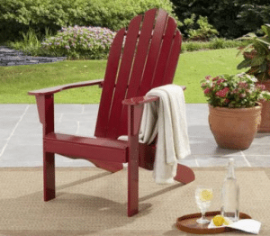 Mainstays wood Adirondack chair red