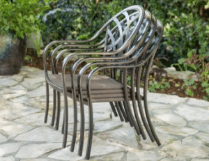 Sanibel dining chairs stacked