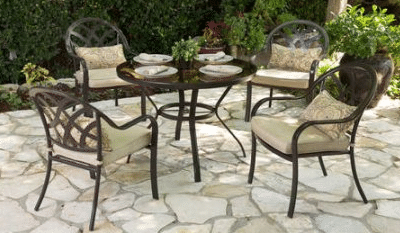 Sanibel 5 piece patio dining set