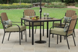 5 piece patio dining set outdoor room ideas for Better homes and gardens dining room ideas