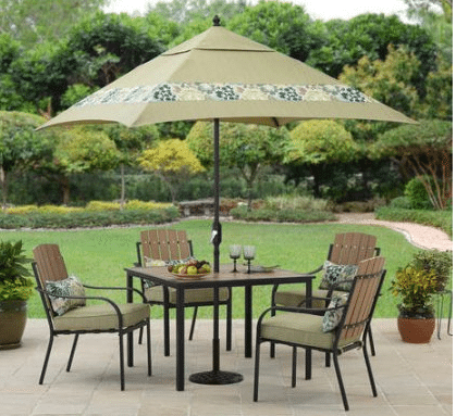 Better Homes and Gardens Jade Avenue dining set with umbrella