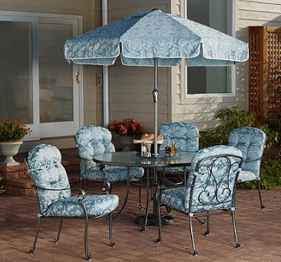 Mainstays Willow Springs dining set with umbrella