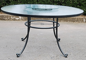 Mainstays Willow Springs dining table with lazy susan
