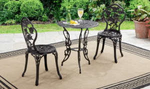 Better Homes and Gardens Rose Small Bistro Sets for Outdoor