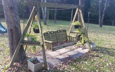 Outdoor Wooden Swings with frame