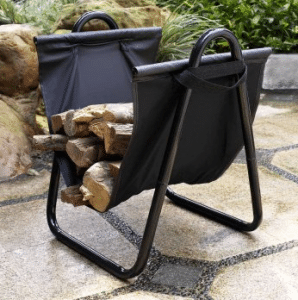 Crosley log rack with carrier
