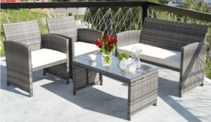 Goplus Wicker conversation set