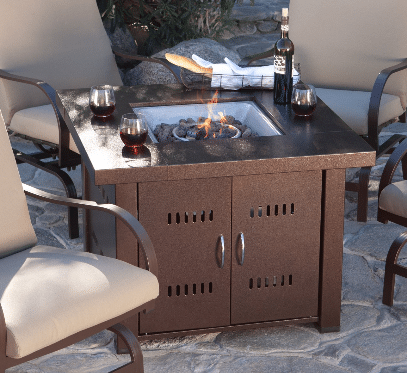 Hiland gas fire pit table cover