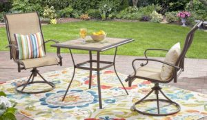 Mainstays Wesley Creek 3 Piece Bistro Sets