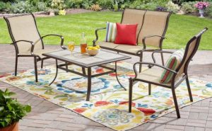 Mainstays Wesley Creek conversation Outdoor Metal Patio Furniture Set