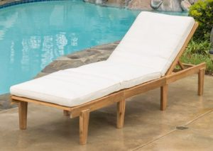 Noble House teak lounge with cushion