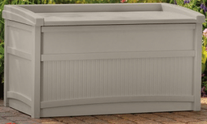 Suncast 50 gallon deck storage with seating