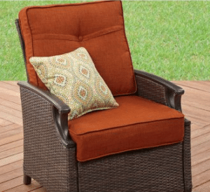 Better Homes and Gardens Oak Terrace Chair with pillow