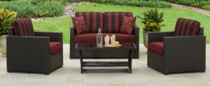 Patio Furniture Conversation Sets-Better Homes and Gardens Rush Valley conversation set
