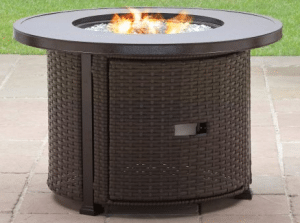 Colebrook fire pit for wood deck