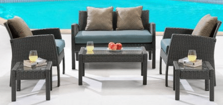 Hanover Outdoor Chelsea resin wicker patio furniture