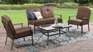 Patio Furniture Conversation Sets-Mainstays Wentworth conversation set